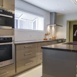 Contemporary kitchen in North York house addition.