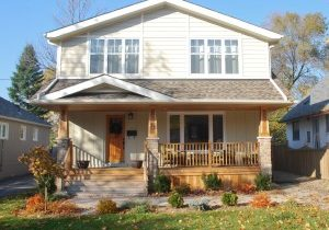 Completed house addition built in a Craftsman style